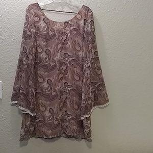 Xhilaration Paisley Print Dress Size 2XL